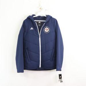 New Adidas Womens Small Winnipeg Jets Jacket Blue